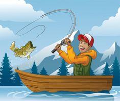Discover thousands of Premium vectors available in AI and EPS formats Boat Cartoon, Cartoon Fish, Cartoon Man, Boat Illustration, Small Fishing Boats, Boat Vector, Friends Hugging, Boat Drawing, Fall Clip Art