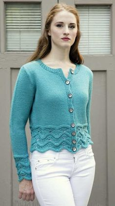 Ripple Lace Cardigan Knitting Pattern