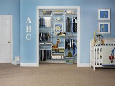 Use these tips and tricks to create a closet that grows with your little one >> http://www.hgtvremodels.com/interiors/baby-closet-organizers-and-dividers/index.html?soc=pinterest#