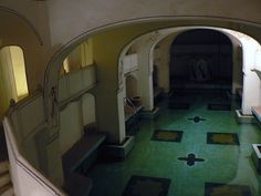 200-year-old underground swimming pool at Kuchaman Fort Hotel.    Kuchaman, Rajasthan, India