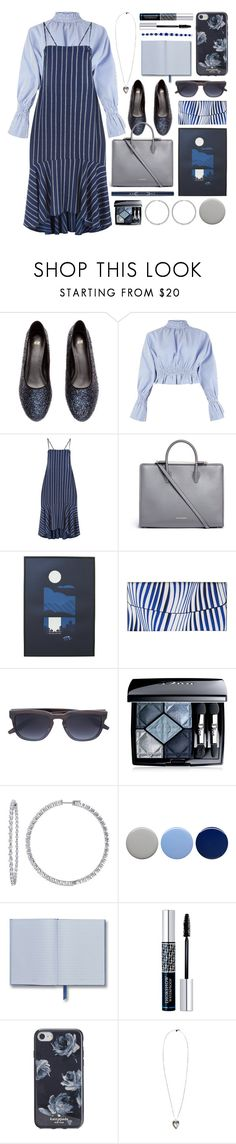 """for office"" by foundlostme ❤ liked on Polyvore featuring H&M, Pink Vanilla, Strathberry, Vera Bradley, Barton Perreira, Christian Dior, Burberry, Kate Spade, Alexander McQueen and stripesonstripes"