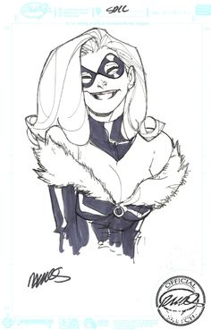 Humberto Ramos - Black Cat Comic Art. anyone can comment does anyone know any commission artist who are low priced.