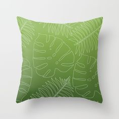 New In Store Jungle Leaf Ombre throw Pillow 20% Off All Pillows Today!