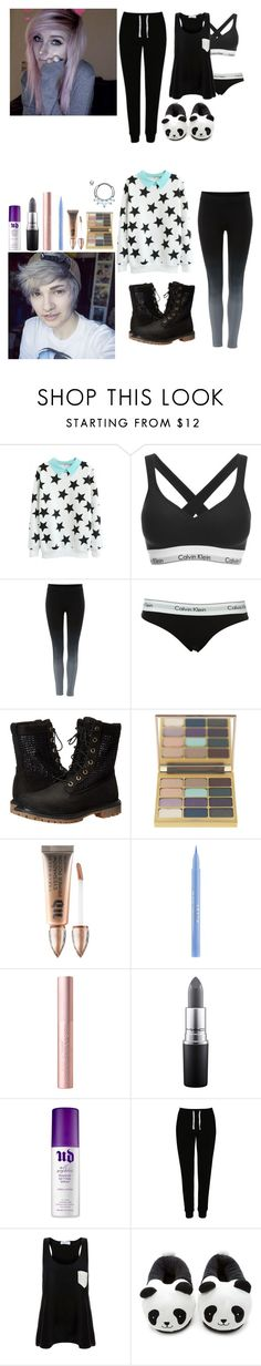 """""""{Asylum OORN}"""" by anonsandsuch ❤ liked on Polyvore featuring Calvin Klein, Label Lab, Timberland, Stila, Urban Decay, MAC Cosmetics, George, Solid & Striped and Forever 21"""