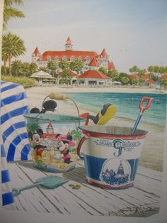 """Disney Artist David E. Doss """"Grand Floridian"""" www.davidedoss.com  We own a bunch of his paintings - he was our neighbor in Celebration, FL."""
