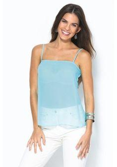 Top s úzkymi ramienkami #ModinoSK #babyblue #pastel #top