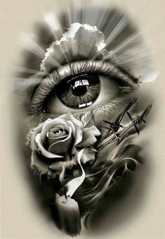 Tattoo Design, realistic eye with rose and candle. dessins de tatouage 2019 dessins de tatouage 2019 Tattoo Design, realistic eye with rose and candle. Skull Tattoos, Rose Tattoos, Leg Tattoos, Body Art Tattoos, Sleeve Tattoos, Tattoos With Roses, Tattoo Thigh, Tatoos, Ojo Tattoo