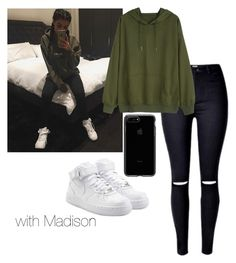 """""""Madison Beer"""" by leisharomano ❤ liked on Polyvore featuring NIKE"""