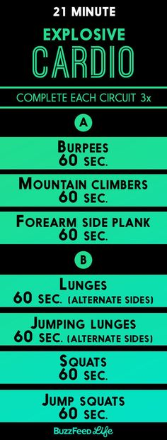 Zero cardio machines? Swap in a circuit of bodyweight exercises for 20 to 30 minutes instead. | 19 Ways To Get A Great Workout Even If Your Gym Is Sketchy AF