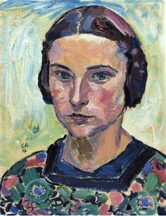Cuno Amiet (1868-1961, Swiss), 1914, Portrait of a Young Woman