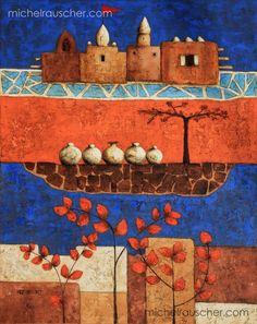 Michel RAUSCHER   Peintures - Huile sur toile - 73 x 92 cm - 2012