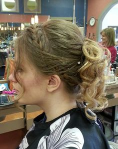 Loose updo's with braid