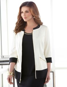 Plus Size Fairfax Ponte Jacket From Catherines