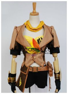 Costume Detail RWBY Yellow Yang Alternative Costume Set Includes - Inner Top, Jacket, Shorts, Belt, Gloves Please see individual tabs for information including: -available sizes for this costume -avai