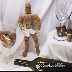 @Corks2life Cork sculpture art - Made from recycled corks & wire