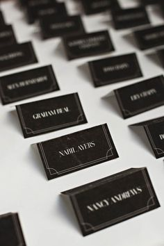 Day-Of Wedding Stationery Inspiration and Ideas: White on Black via Oh So Beautiful Paper (8)