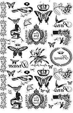 Inspiráció - transzfer képek, vegyesen | PaGi Decoplage Shabby Vintage, Collage Sheet, Collage Art, Diy Cardboard Furniture, Photo Transfer, Heat Transfer, Mc Escher, How To Dye Fabric, Dyeing Fabric