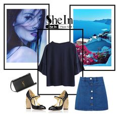 """""""blued"""" by bohostyleon ❤ liked on Polyvore featuring Miss Selfridge, Dolce&Gabbana and Yves Saint Laurent"""