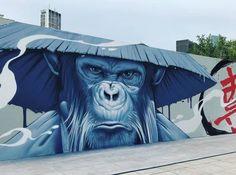 Fresh Painting, the Lyon street art festival – New … – Graffiti World Street Art Banksy, Murals Street Art, 3d Street Art, Street Art Painting, Urban Street Art, Street Artists, Graffiti Artwork, Mural Art, Wall Mural