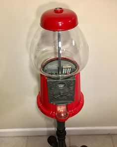 A nice memory from childhood - the Gum Nall machine. All metal fittings and cast iron feet. Globe is glass in perfect condition. Gumball Machine, Charcoal Grill, Kitchen Aid Mixer, My Etsy Shop, Handmade Gifts, Outdoor Decor, Vintage, Home Decor, Charcoal Bbq Grill