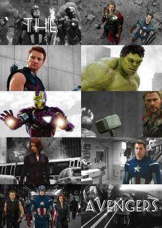 Iron Man, Hulk, Captain America, Thor, Black Widow, and Hawkeye.