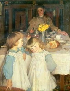 The Breakfast Table ~ Sir George Clausen ~ (British: 1852-1944)