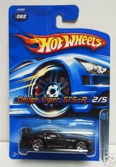 Hot Wheels 2006 : Mopar Madness: Dodge Viper GTS-R 2006 Collector #062 (2/5) 1:64 Scale by Mattel. $9.99. Hot Wheels 2006 : Mopar Madness: Dodge Viper GTS-R 2006 Collector #062 (2/5). Here we have a Mattel Hot Wheels 2006 1:64 Scale Black Dodge Viper GTS-R 2/5 Die Cast Car #062 - an awesome pick up for any Hot Wheels Enthusiast