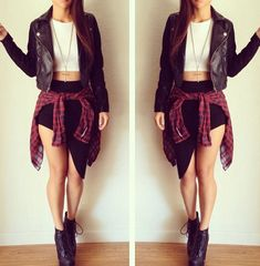 Edgy fall outfit!