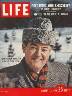 Minnesota Senator Hubert Humphrey Time/Life Cover by Alfred Eisenstaedt