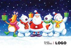 Julekort med støtte 2013. Motiv: Julemand, julepynt, julesne, snemand, snemænd, firmajulekort, firma julekort, erhvervsjulekort, julekort til erhverv, julekort med logo, julekort, velgørenhedsjulekort, julekort med tryk