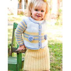 Prep School Ensemble Skirt & Sweater Featured on CrochetSquare.com