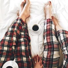 Christmas Eve traditions. Tag someone you are matching with tonight. #coffeenclothes #☕️ @stilettobeatss