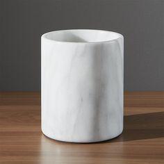 Crate&Barrel French Kitchen Marble Utensil Holder