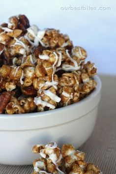 we made just made this one. this was our last try out of all the cinnamon popcorn recipes I pinned on my phoood board and by far THE BEST. more work but WORHT IT!!!! You can toss the popcorn in a brown grocery bag to make it easier. we sprinkled additional cinnamon on top. If you want the microwave instructions to skip the 30 min oven time, Email me, -Tara