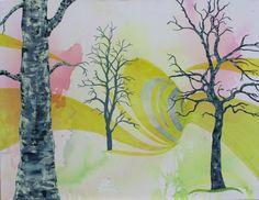Skovens dyb..... akryl maleri