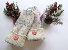 Felted Wool Mittens  Fleece Lined Wool by GrandmaLindasHouse