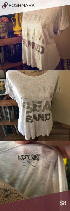 Sun sea and sand tee Apt 9 brand size xl, soft cute summer tee Apt.9 Tops Tees - Short Sleeve