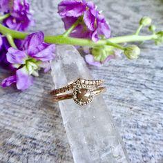 Handcrafted 14k Gold Engagement Ring/Bridal Set  #makersonhudson
