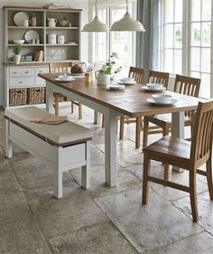 Hartford® Grey Double 6-8 Seater Extending Dining Table from Next ...
