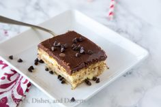 Boston Cream Pie Ice Box Cake plus links to others - Brown Eyed Baker