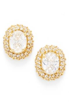 The big, bright clusters of crystals really glam up these Kate Spade stud earrings.