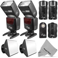2x Altura Digital Slave Flash Kit for Canon DSLR Rebel http://www.ebay.com/itm/231384011528