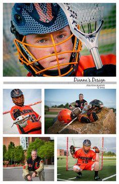 Senior Portrait, Lacrosse Poses