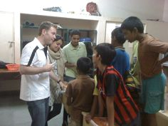Gary Mills (co-founder) speaking to the boys of St. Patrick's in Bengalaru, India.  We converted one of the rooms with the help of MAD volunteers into an amazing library space.