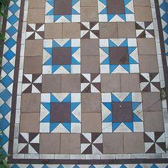 London Victorian tile pattern. Original.