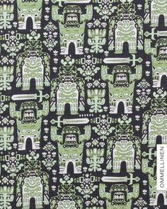 Soturit by Leena Renko for Ommellinen Print Fabrics, Printing On Fabric, City Photo, Kids Outfits, Cool Stuff, Design, Fabric Printing, Kids Fashion