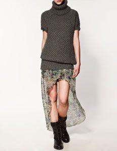 chunky knit sweater - zara