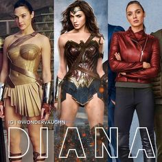Isn't the last one from the car movie? I forgot the name but Vin Diesel is in it Gal Gadot Wonder Woman, Wonder Woman Movie, Wonder Woman Cosplay, Marvel Dc Movies, Marvel Vs, Comic Movies, Lynda Carter, Role Models, Actors & Actresses
