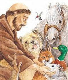 St. Francis of Asissi--animal lover extraordinare.