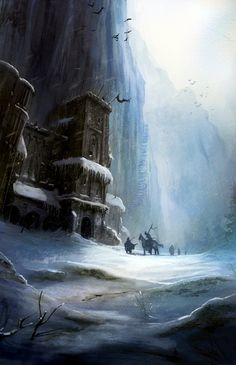 The Wall & Castle Black - A Song of Ice and Fire - Ted Nasmith